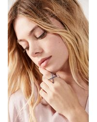 Urban Outfitters - Blue X Marks The Spot Ring - Lyst