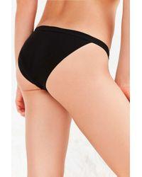 Urban Outfitters - Black Barrett Basic Ribbed Bikini - Lyst