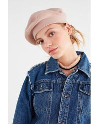 Urban Outfitters - Pink Knit Beret - Lyst