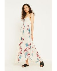b660c4038d4 Free People Ivory Floral Slip Dress in White - Lyst