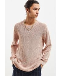 Urban Outfitters | Multicolor Uo Washed Distressed Crew Neck Sweater for Men | Lyst