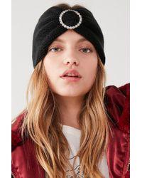 Urban Outfitters - Black Rhinestone Knit Headband - Lyst