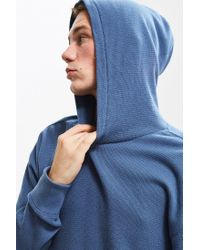Urban Outfitters - Blue Uo Colin Thermal Hooded Long Sleeve Tee for Men - Lyst