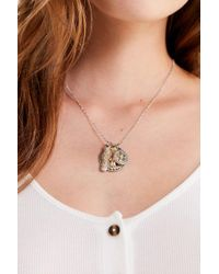 Urban Outfitters - Metallic Cluster Pendant Necklace - Lyst