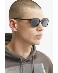 Urban Outfitters - Black Rounded Square Sunglasses for Men - Lyst