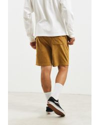 Urban Outfitters Brown Uo Velour Pierce Short for men