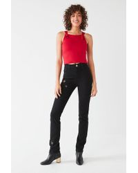 Urban Outfitters - Red Uo Rachel Tie-front Apron Top - Lyst