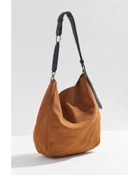 c9f733a73f Lyst - Urban Outfitters O-ring Suede Shopper Tote Bag in Brown