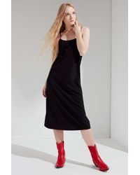 Urban Outfitters - Black Uo Cami Slip Midi Dress - Lyst