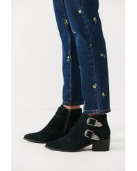 Urban Outfitters - Gray Talia Suede Buckle Ankle Boot - Lyst