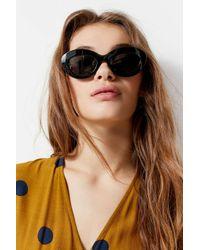 0577dec5b16 Lyst - Le Specs Fluxus Oval Sunglasses in Black