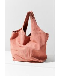 Urban Outfitters - Pink Slouchy Suede Shopper Tote Bag - Lyst
