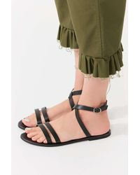 Urban Outfitters - Black Cleo Wrap Sandal - Lyst