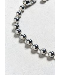 Urban Outfitters - Metallic Chrome Shot Ball Chain Necklace - Lyst