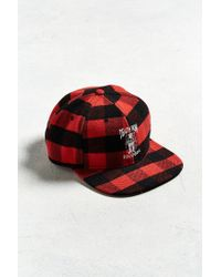 Lyst - Urban Outfitters Embroidered Death Row Records Plaid Snapback ... afcecbe293dd