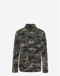 Valentino | Green Id Camouflage Pea Coat for Men | Lyst