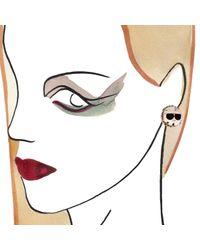 Bijoux De Famille | Metallic Dress Me Coco And Karl Stud Earrings | Lyst