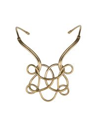 Aesa | Metallic Solar Knot Necklace | Lyst
