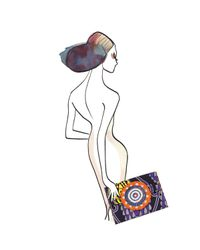 Sarah's Bag - Natural Swirls Envelope Clutch - Lyst