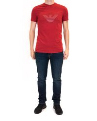 Armani Jeans - Red Tee for Men - Lyst