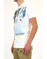 DSquared² - Blue Tee for Men - Lyst