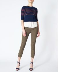 Veronica Beard - Blue Knot Combo Sweater - Lyst
