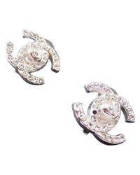 Chanel - White Earrings - Lyst