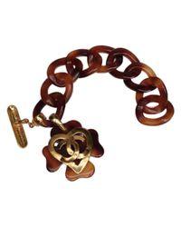 Chanel - Pre-owned Brown Metal Bracelet - Lyst