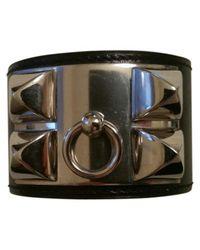 Hermès - Black Pre-owned Collier De Chien Leather Bracelet - Lyst