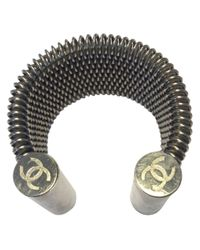 Chanel | Metallic Pre-owned Large Cuff Bracelet | Lyst