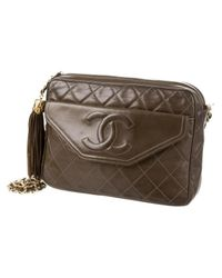 Chanel - Brown Pre-owned Camera Leather Handbag - Lyst