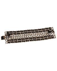 Chanel | Metallic Silver Metal Bracelet | Lyst