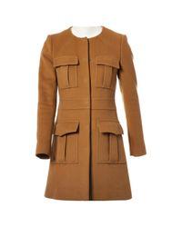 Chloé - Brown Pre-owned Wool Coat - Lyst