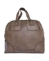 Miu Miu - Brown Leather Travel Bag - Lyst