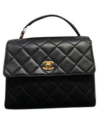 Chanel - Black Leather Handbag - Lyst