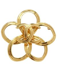 Chanel | Metallic Pre-owned Gold Metal Pin & Brooche | Lyst