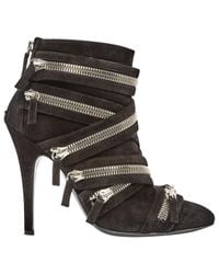 Balmain - Pre-owned Black Suede Ankle Boots - Lyst