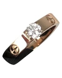 Cartier - Metallic Pre-owned Love Pink Gold Ring - Lyst