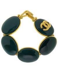 Chanel - Blue Pre-owned Multicolour Metal Bracelet - Lyst