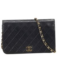 Chanel - Black Leather Handbag - Lyst