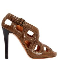 Givenchy - Brown Pre-owned Leather Sandals - Lyst