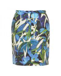 Dries Van Noten - Blue Pre-owned Silk Mid-length Skirt - Lyst