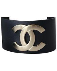 Chanel - Blue Leather Bracelet - Lyst