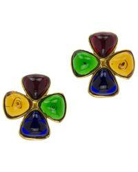 Chanel | Green Pre-owned Earrings | Lyst