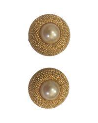 Dior | Metallic Pre-owned Earrings | Lyst