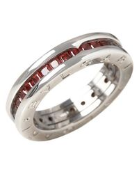 BVLGARI - B.zero1 White Gold Ring - Lyst
