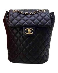 7300d6f37f4a Lyst - Chanel Pre-owned Leather Backpack in Black