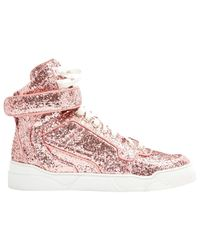 Givenchy - Pink Pre-owned Leather Trainers - Lyst