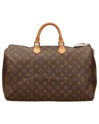 Louis Vuitton - Brown Pre-owned Speedy Cloth Handbag - Lyst