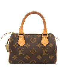 Louis Vuitton - Natural Pre-owned Speedy Cloth Mini Bag - Lyst